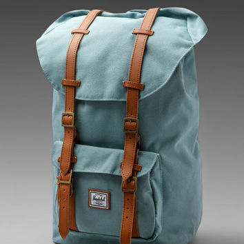 Herschel Supply Co. Bad Hills Workshop Little America in Sea Foam/Bird Lining from REVOLVEclothing.com
