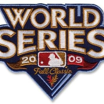 2 Patch Pack - 2009 World Series MLB Baseball Jersey Sleeve Patches - New York Yankees