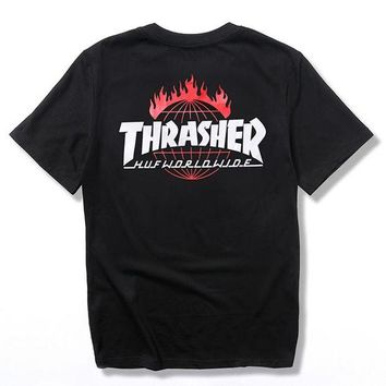 Thrasher Trending Casual Women Men Fashion Casual Shirt Top Tee Black G