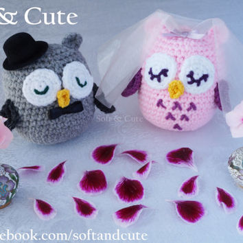 PINK BRIDE OWL / marriage / matrimony / wedding / cake topper / bachelorette party