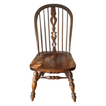 Pre-owned Ethan Allen Royal Charter Oak Chairs - S/4