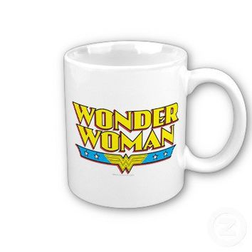 Wonder Woman Name and Logo Coffee Mug from Zazzle.com