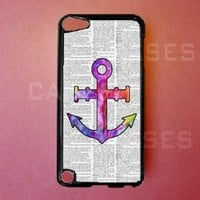 Apple IPOD touch 5 tough CASE Colorful Anchor 5TH GEN IPOD Cover LOVELY Pretty Cute...