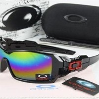 Fashion New Mens Oakley Oil Rig Sunglasses Colorful lens & Black Frame$40