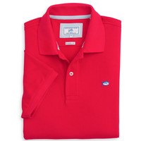 Short Sleeve Skipjack Polo in Channel Marker Red by Southern Tide