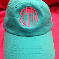 Sorority hat with letters or monogram