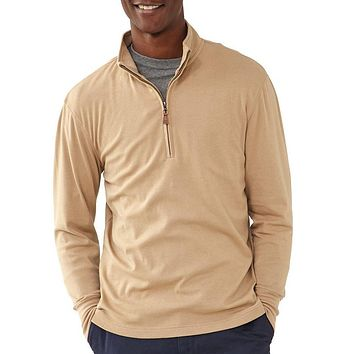 Puremeso Quarter Zip Pullover in Dune by The Normal Brand - FINAL SALE