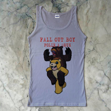 Fall Out Boy Folie a Deux Rock Band Women's Tank Top {Color Available}
