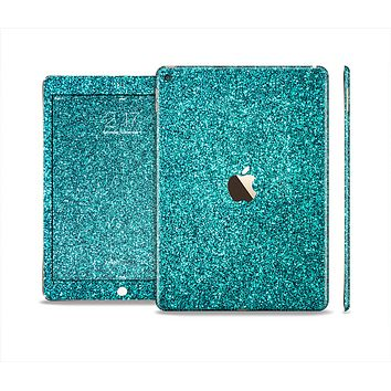 The Teal Glitter Ultra Metallic Skin Set for the Apple iPad Pro
