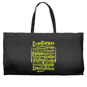 Expelliarmus Harry Potter Spell Weekender Totes