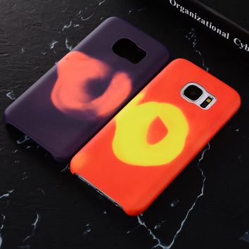 MXHYQ Physical Thermal Sensor Discoloration Case For SAMSUNG Galaxy S7 S7 edge Soft Heat Sensitive Cover Funny Magic Phone cases