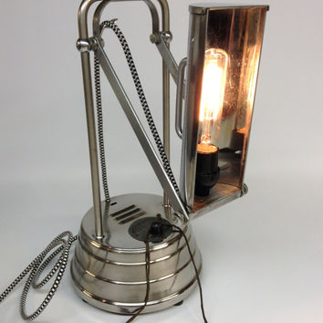 Vintage Antique Sun Kraft 1940's Ultraviolet Ray Generator Lamp Steampunk Industrial Unique Silver Light