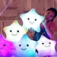 Luminous pillow Christmas Toys, Led Light Pillow,plush Pillow, Hot Colorful Stars,kids Toys, Free Shipping, Birthday Gift