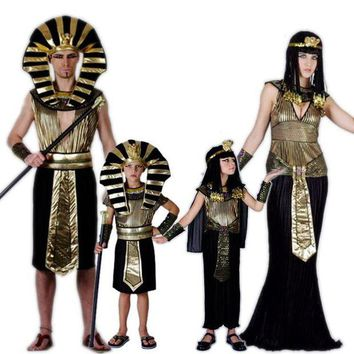DCCKH6B Egypt Princess Costumes 2017 New Egyptian pharaoh Cosplay masquerade Halloween adult childen kid Girl costume Cleopatra royal