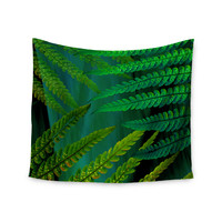 "Alison Coxon ""Forest Fern Green"" Plant Wall Tapestry"