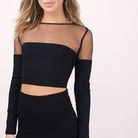 Mesh Leading Crop Top