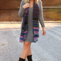 Warm Me Up Sweater Dress: Heather Gray