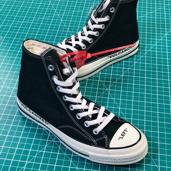 Off White X Converse Chuck Taylor All Star 1970s Mid Black Sneak e52da170f1