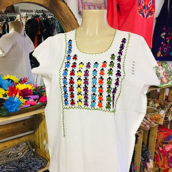 Embroidery Muñequitas Mexican Blouse
