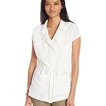 UNIONBAY Womens Plus Size Kimmy Linen Rayon Long Vest