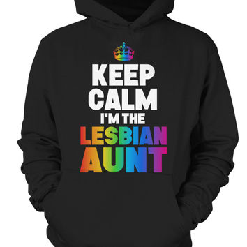 LGBT- Keep Calm I am the lesbian aunt -Unisex Hoodie - SSID2016