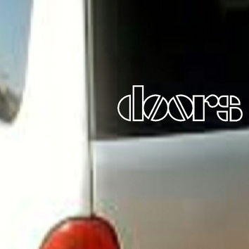 DOORS Sticker Decal Vinyl cLASSIC Rock Band Music Logo Car Window Bumper