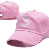 Chance The Rapper 3 Dad Hat - Pink