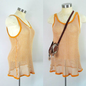 Cotton Mesh Tank Top / Pendeen String Vest