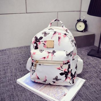Bolsa Fashion backpacks Charming Nice CONEEDWomen Backpack Fashion Causal Floral Printing Leather Bag hot 4 17jul12
