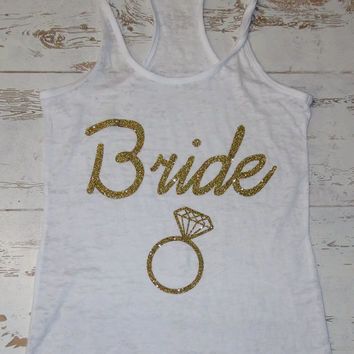 Bride Burnout Tank top. Glitter.Womens crossfit tank.exercise tank.Running tank top.Sexy Gym Clothing. Bride to be. Bachelorette.
