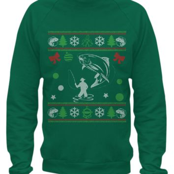 Fishing - Christmas Sweater Printed fishingift