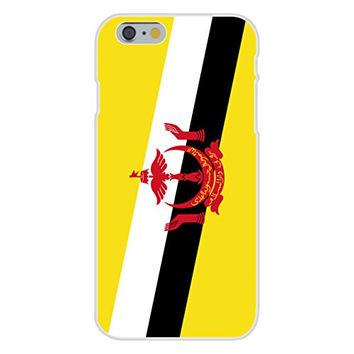 Apple iPhone 6 Custom Case White Plastic Snap On - Brunei - World Country National Flags