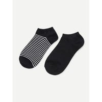 Stripe Pattern Ankle Socks