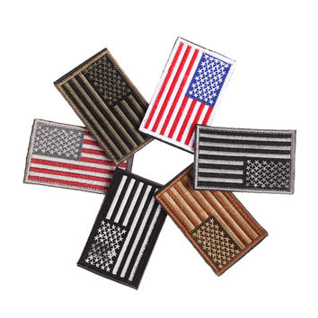 6 Styles American Flag Embroidered Patch Patriotic USA Military tactics Patch
