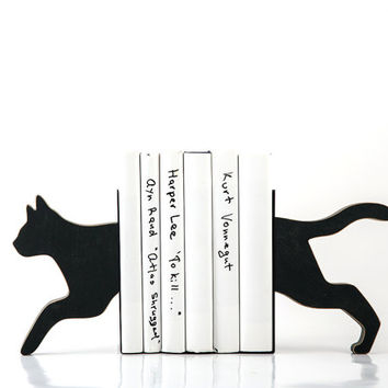 Bookends - CAT - special wooden edition of our popular bookends will hold your favorite books