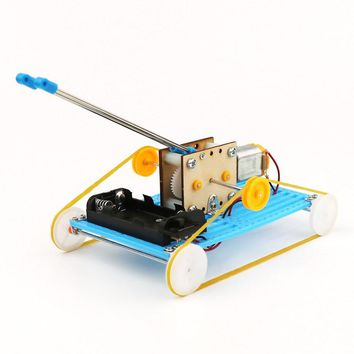 DIY Educational Electric Robot Tank Scientific Invention Toys Good Gifts for Kids Gift Birthday Present