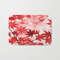 Japanese Maple Bath Mat by kasseggs