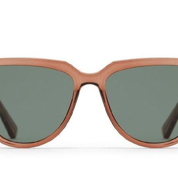 Quay Prime Time Toffee Sunglasses / Green Lenses