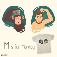 M is for monkey. on Threadless