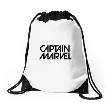 captain marvel 5 Drawstring Bags