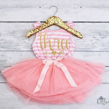 Third Birthday Outfit Baby Girl