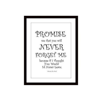 Friendship quote, Winnie the pooh, Printable Wall Art, best friend gift, black and white, disney movie print, nursery decal, large small