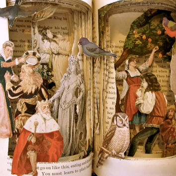 Altered Book Grimm's Fairy Tales by Raidersofthelostart on Etsy