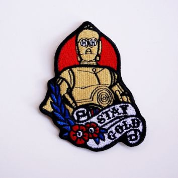 Stay Gold C3PO Patch