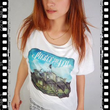 Pierce The Veil Cover Punk Rock Vintage Women Top Wide Crop Fashion T-shirt Free Size
