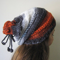 Colour-block Slouchy Hat....