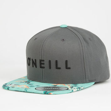 O'neill Yambao Mens Snapback Hat Charcoal One Size For Men 24867311001