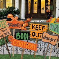 Halloween autumn fall holidays / diy halloween signs