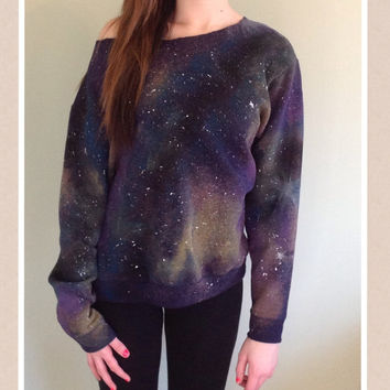 One of a kind GALAXY SWEATSHIRT -large