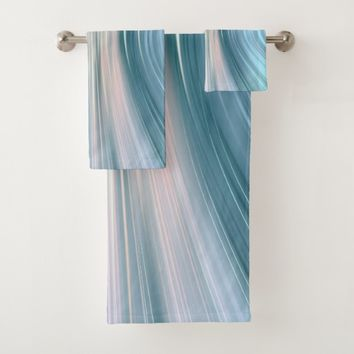 Aqua Turquoise Teal Driving Dreams Towel Set